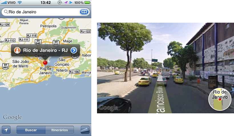 Google Street View Brasil no iPhone