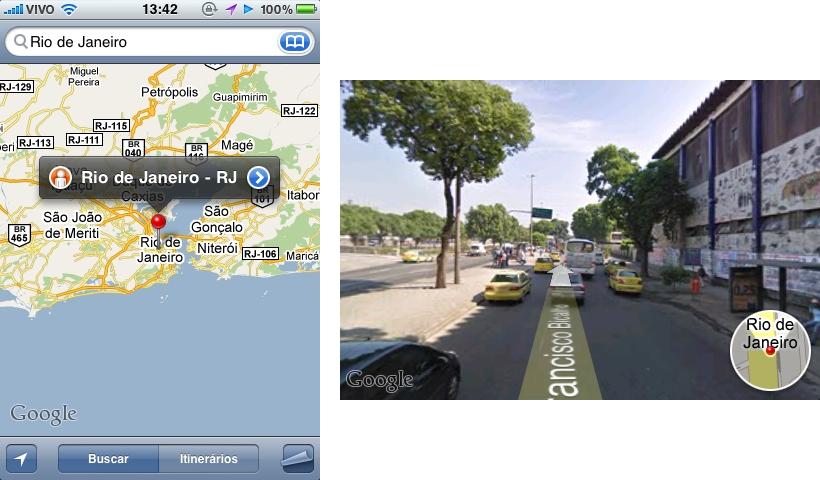 Google Street View Brasil no iPhone