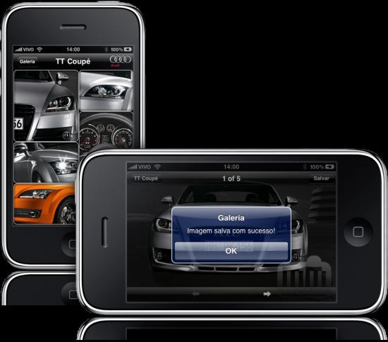 Audi Brasil em iPhones
