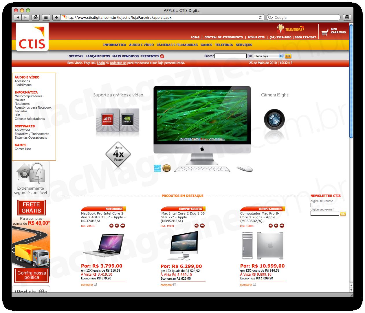 Apple no site da CTIS Digital