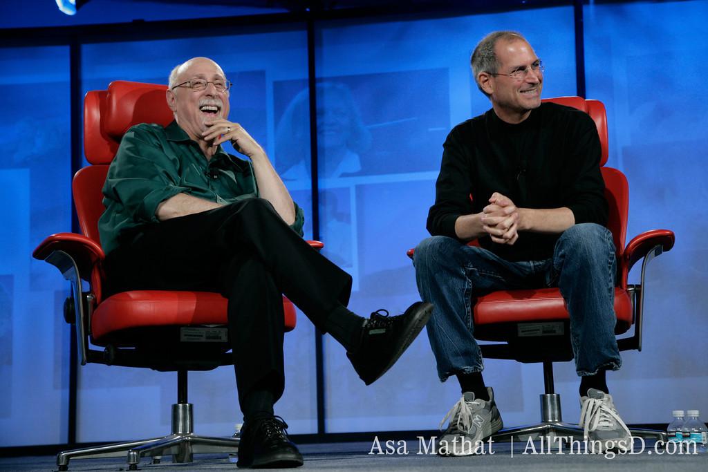 Walt Mossberg e Steve Jobs na D5