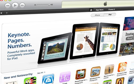 iWork na iPad App Store