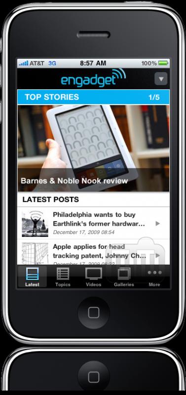App do Engadget para iPhone