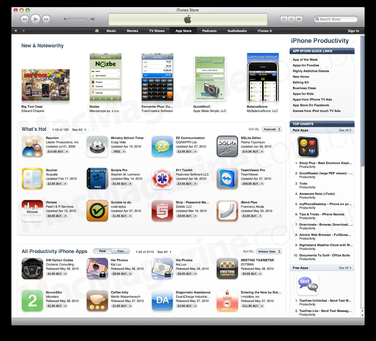 Categoria da App Store com novo visual