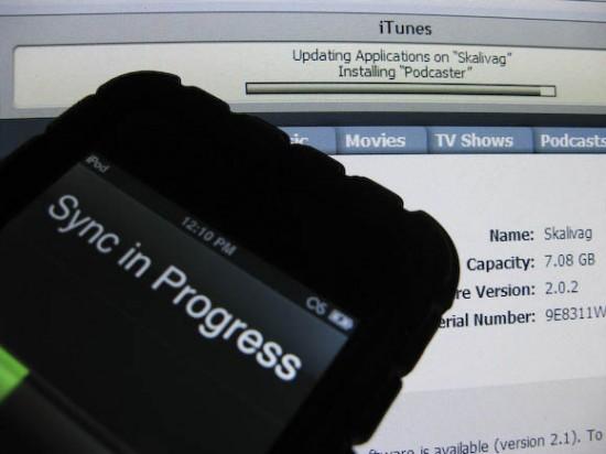 Sync de iPod touch com o iTunes no Windows