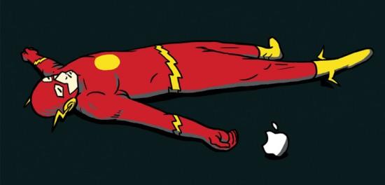 Flash e Apple (estampa de camiseta)