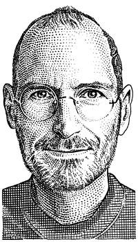 Steve Jobs em desenho (WSJ)