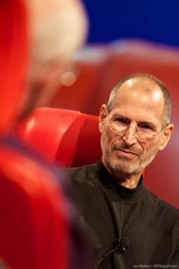 Steve Jobs na sessão de perguntas e respostas da D8