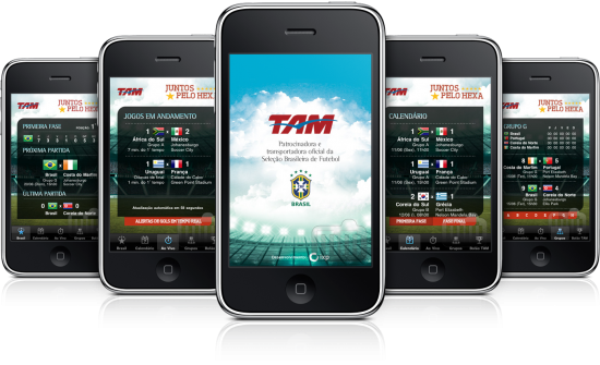 TAM Futebol em iPhones