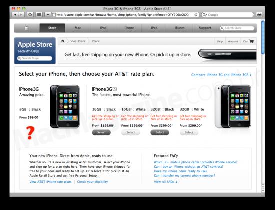 iPhones na Apple Online Store