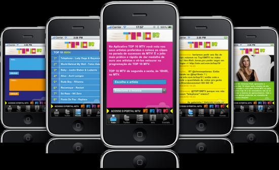 Top 10 MTV em iPhones