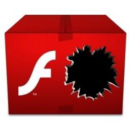 Flash com um buraco/ataque