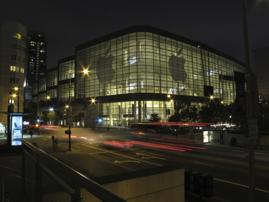 Moscone West preparado para a WWDC 2010