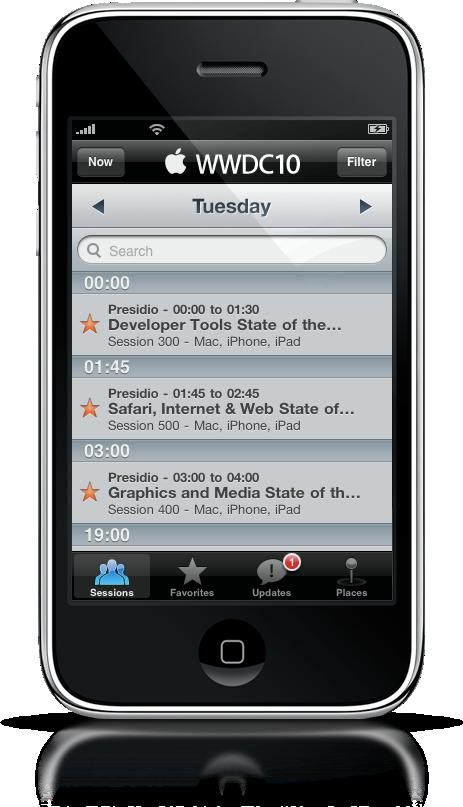 App oficial da WWDC 2010 para iPhone
