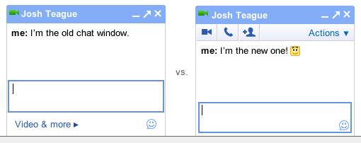 Interface de chats no Gmail