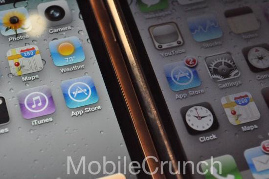 Telas do iPhone 4 com o 3GS