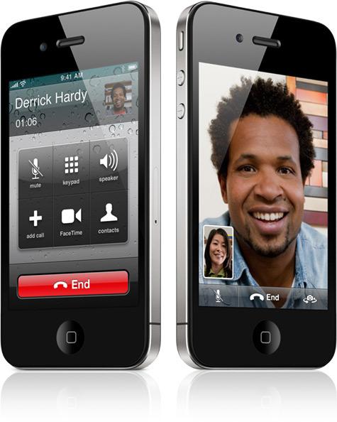 iPhone 4 rodando o FaceTime