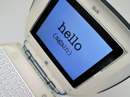 iBook G3 com iPad