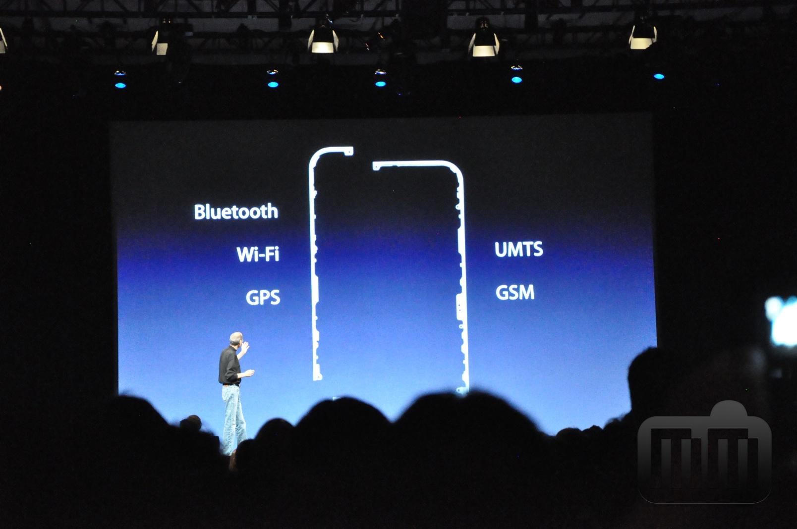 Antenas do iPhone 4, na WWDC 2010