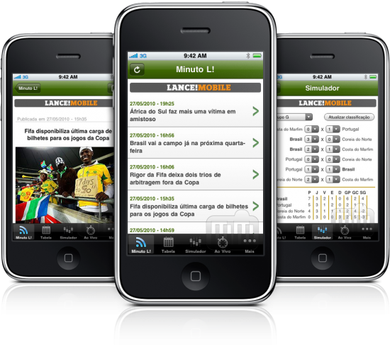 LANCE! Copa em iPhones