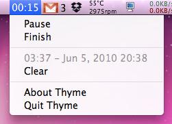 Thyme no Mac OS X