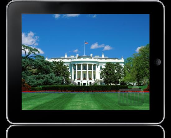 Casa Branca num iPad
