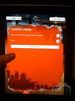iPad como cardápio em restaurante australiano