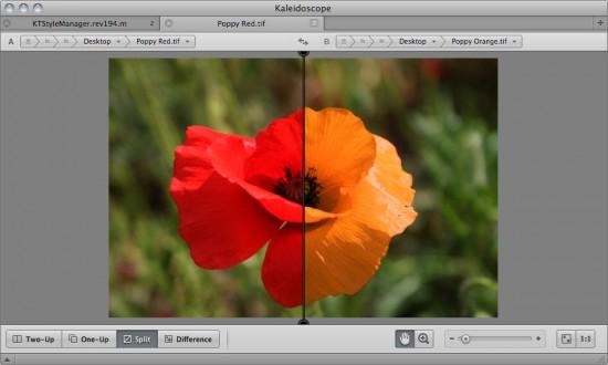 Kaleidoscope em ação: comparativo de fotos