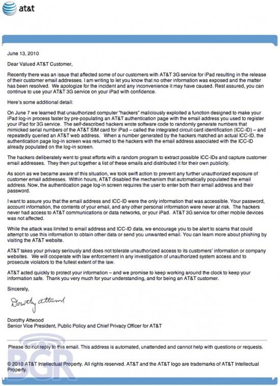 Pedido de desculpas da AT&T a donos de iPads 3G