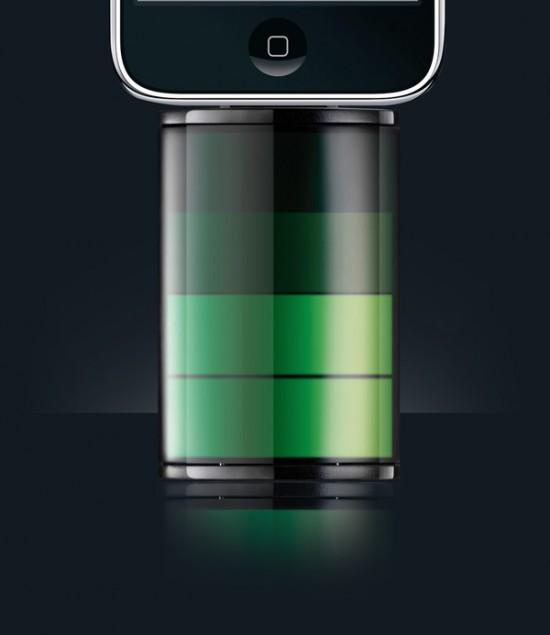 Bateria para iPhone, the icon