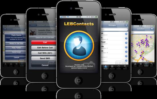 LEBContacts em iPhones
