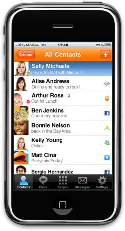 Nimbuzz 2.0 no iPhone