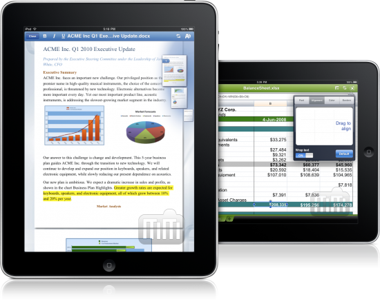 Quickoffice Connect Mobile Suite no iPad