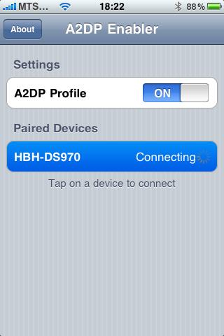 A2DP Enabler para iPhone