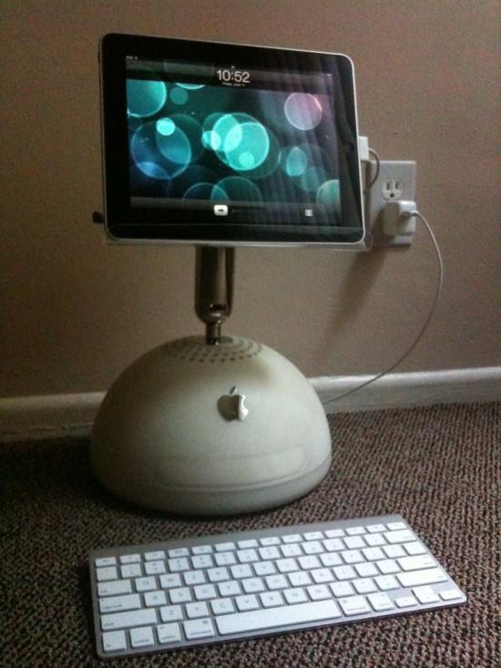 iMac G4 como suporte para iPad