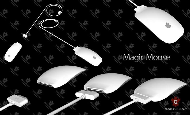 Magic Mouse com bateria recarregável