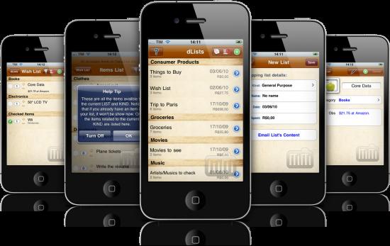 dLists 2.0 em iPhones
