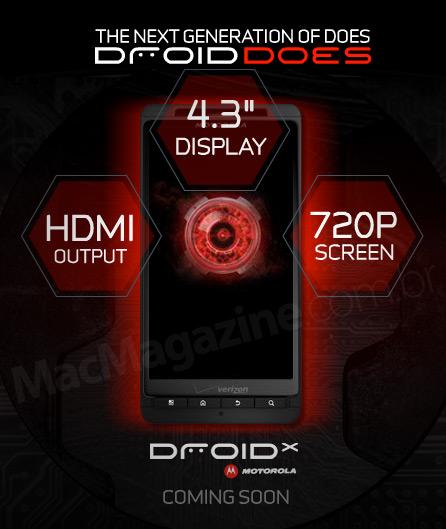 Motorola Droid X com 720p?