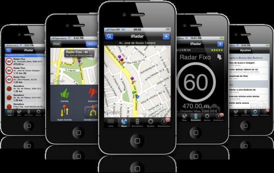 iRadar 5.0 em iPhones