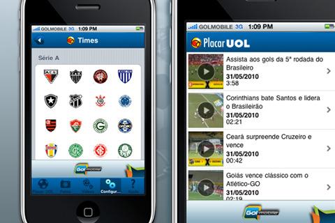 Placar UOL para iPhone