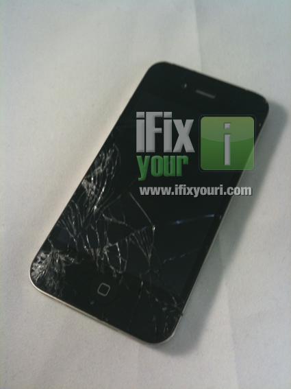 iPhone 4 com o vidro rachado