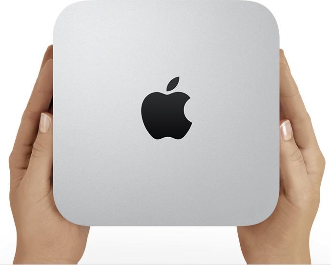 Mac mini em mãos