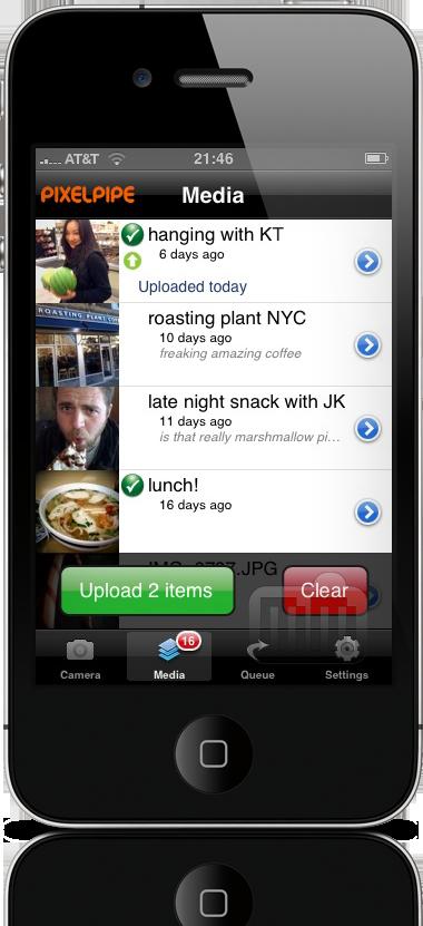 Pixelpipe no iPhone