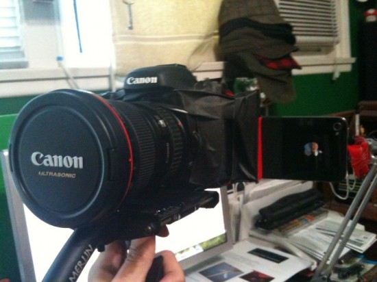 iPhone 4 e Canon 7D como steadicam