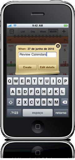 Adicionando eventos no Calendars