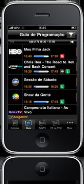 TV Magazine no iPhone