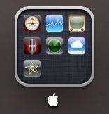 Caractere especial em pasta do iOS 4