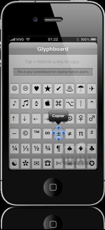 Glyphboard no iPhone 4