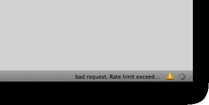 Erro no Tweetie para Mac