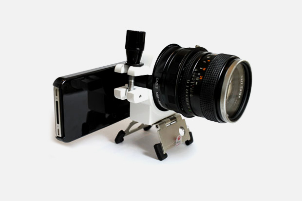 iPhone 4 com lente de DSLR